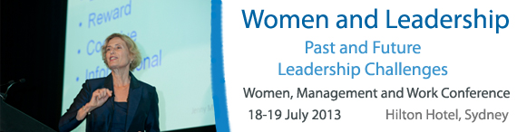 Banner for Women Management and Work Conference 14 March 2013